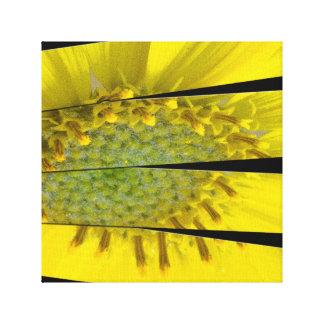 Yellow Flower Four Panel Design Canvas Print