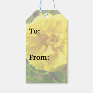Yellow Flower Gift Tags