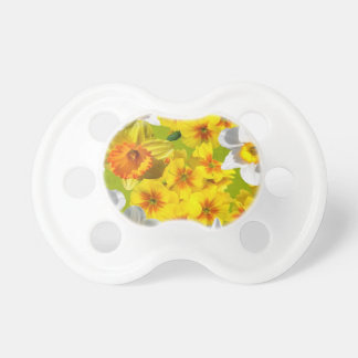 Yellow Flower Graphic Baby Pacifiers