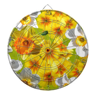 Yellow Flower Graphic Dartboard