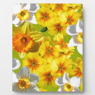 Yellow Flower Graphic Plaque