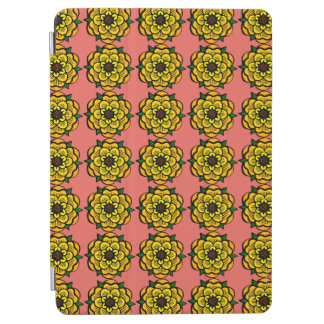 Yellow flower in repetition iPad air cover