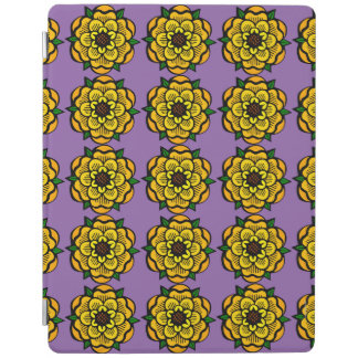 Yellow flower in repetition iPad cover