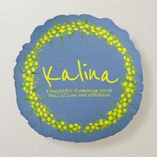Yellow flower Kalina name meaning pillow
