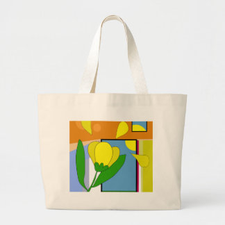 Yellow flower large tote bag