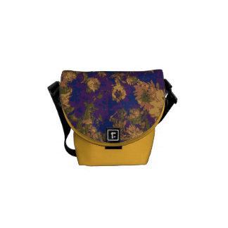 Yellow flower messenger bag