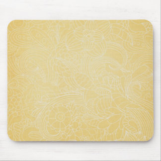 yellow flower mouse pads