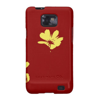 Yellow Flower on Red Background - Fine art Galaxy S2 Cases