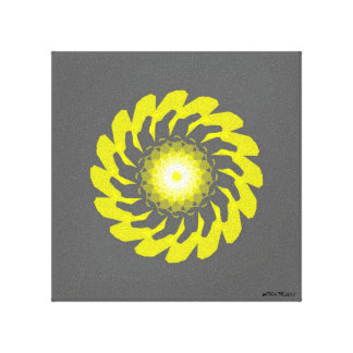 Yellow Flower Original Canvas Print
