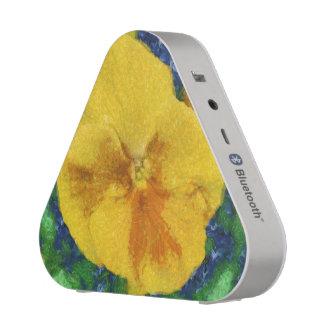 Yellow flower painting blueooth speaker