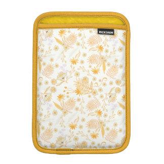 Yellow Flower Pattern Sleeve For iPad Mini