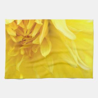Yellow Flower Petals Kitchen Towel