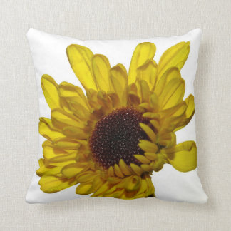 Yellow Flower Photo Petals Choose Background Color Throw Pillow