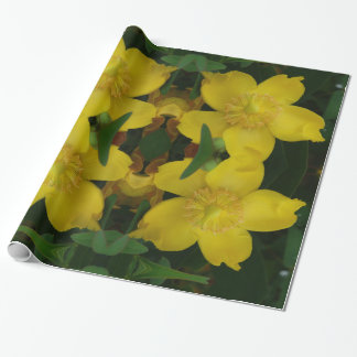 Yellow Flower Photo  Wrapping Paper