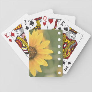 Yellow Flower Playing Cards