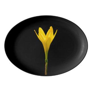 Yellow Flower Porcelain Serving Platter