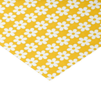 Yellow Flower  Print Glossy Tissue Paper