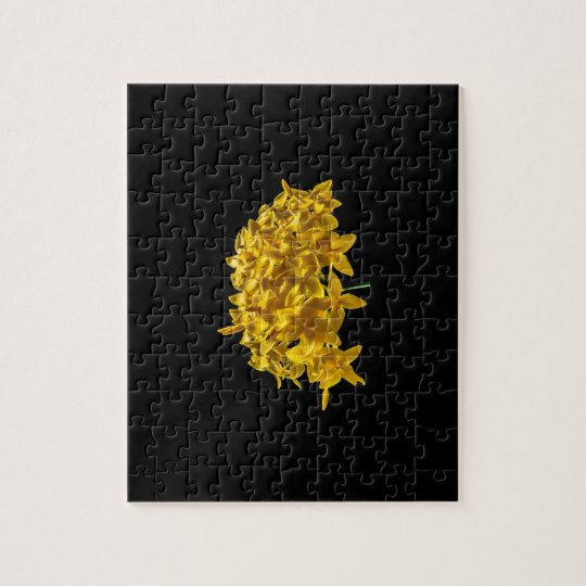 YELLOW FLOWER PUZZLE. JIGSAW PUZZLE