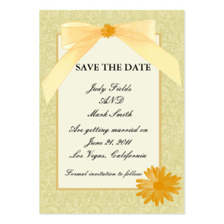 Yellow Flower Save The Date Card Business Cards