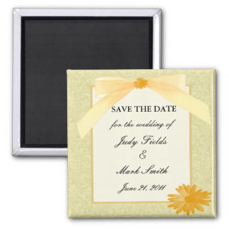 Yellow Flower Save The Date Magnet