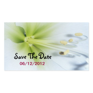 Yellow Flower Save The Date Wedding Card Business Card
