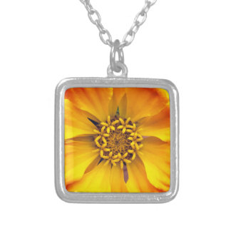 Yellow Flower Silver Plated Necklace