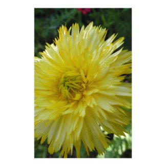 Yellow Flower Stationery Paper