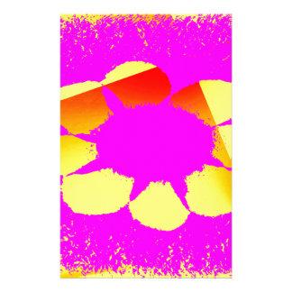 yellow flower stationery