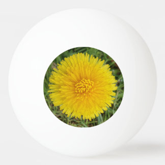 Yellow Flower Three Star Ping Pong Ball