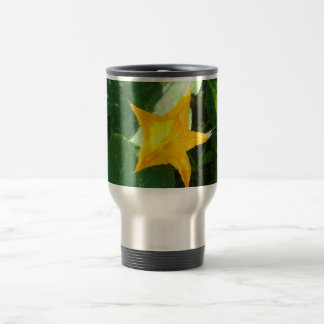yellow flower travel mug