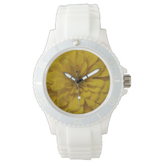 Yellow Flower Watch (White Strap)