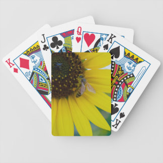 Yellow Flower with Bee Poker Deck