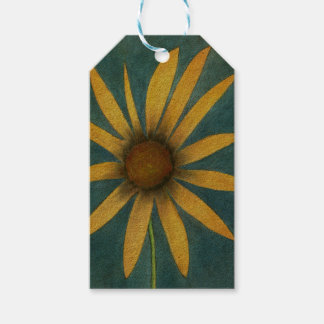 Yellow Flower with Petals Gift Tags