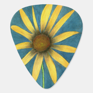 Yellow Flower with Petals Guitar Pick