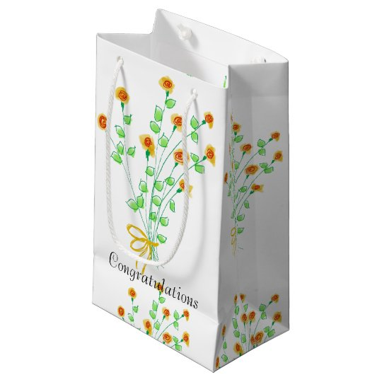 Yellow Flowered Gift Bag