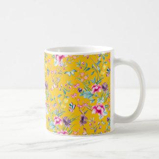 Yellow flowered Mug