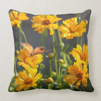 Yellow Flowered Pillow