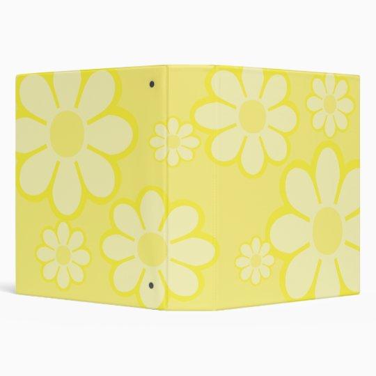 "Yellow Flowers 1.5"" Binder"