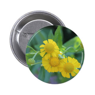 Yellow Flowers 2 Inch Round Button