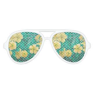 Yellow Flowers at Nature Aviator Sunglasses