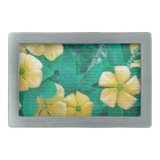 Yellow Flowers at Nature Belt Buckle