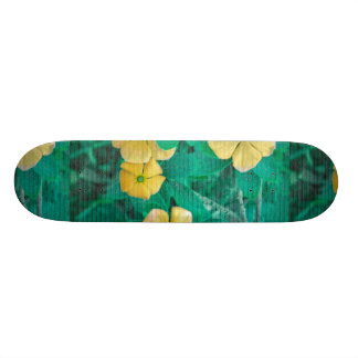 Yellow Flowers at Nature Custom Skate Board