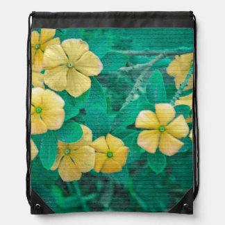 Yellow Flowers at Nature Drawstring Bag
