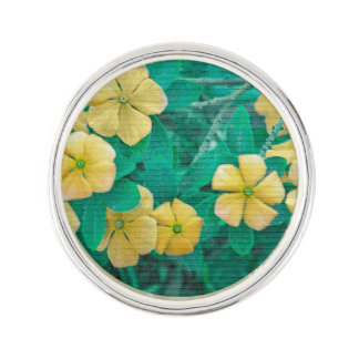 Yellow Flowers at Nature Lapel Pin
