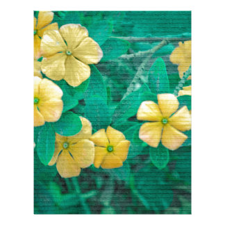 Yellow Flowers at Nature Letterhead