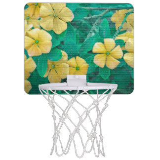 Yellow Flowers at Nature Mini Basketball Hoop