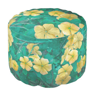 Yellow Flowers at Nature Pouf
