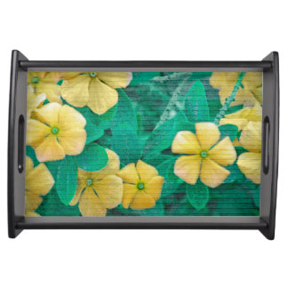 Yellow Flowers at Nature Serving Tray
