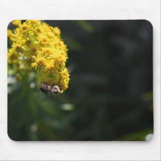 Yellow Flowers Bee Bumblebee Nature Photography Mouse Pad