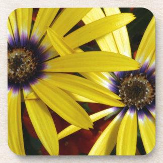 Yellow Flowers Beverage Coaster